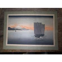 Koho: Sunset on Suruga bay - Japanese Art Open Database