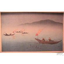 古峰: Ukai, cormerant fishing - Japanese Art Open Database
