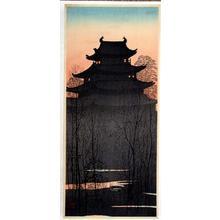 Konen Uehara: Nagoya castle - Japanese Art Open Database