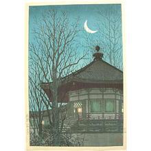 Konen Uehara: Fading Lamplight of a Pagoda - Japanese Art Open Database