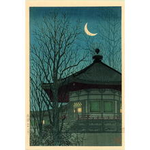 Konen Uehara: Fading Lamplight of a Pagoda - Japanese Art Open Database