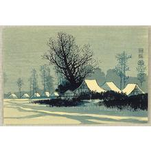 Konen Uehara: Village Snow Scene - Japanese Art Open Database