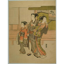 磯田湖龍齋: Customer of the Pleasure Quarters — 嫖客(見立雷庄九郎) - Japanese Art Open Database