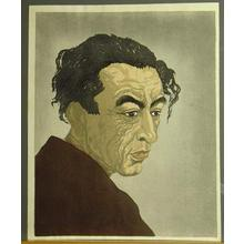 Onchi Koshiro: Portrait of Hagiwara Sakutaro, author of Ice Island - Japanese Art Open Database