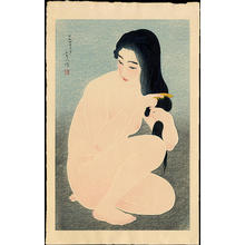 Torii Kotondo: Combing Her Hair - Japanese Art Open Database