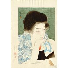 鳥居言人: Morning Hair - Asa Negami — 朝寝髪 - Japanese Art Open Database