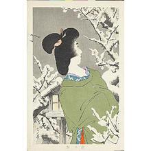 鳥居言人: Plum Blossoms at Night — 夜の梅 - Japanese Art Open Database