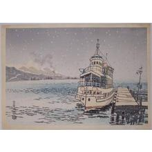 Kotozuka Eiichi: Lake Biwa - Japanese Art Open Database