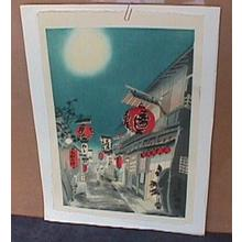 Kotozuka Eiichi: Night Scene of Kiyamachi Street - Japanese Art Open Database