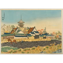 Kotozuka Eiichi: Yakushi Temple and the Vicinity — 奈良薬師寺付近 - Japanese Art Open Database