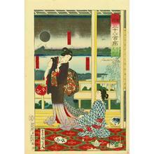Toyohara Kunichika: Daishichi Restaurant at Imado — 今戸岱七 - Japanese Art Open Database