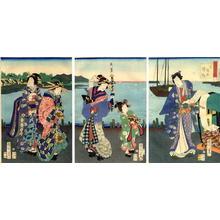 Toyohara Kunichika: Takanawa - coming home - Japanese Art Open Database