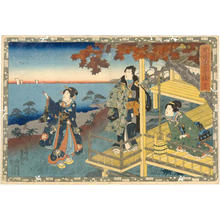 歌川国貞: CH 12 - Suma Beach - Japanese Art Open Database