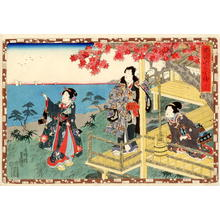 Utagawa Kunisada: CH 12 - Suma Beach - Japanese Art Open Database