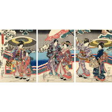 歌川国貞: Snow Viewing Party - Japanese Art Open Database