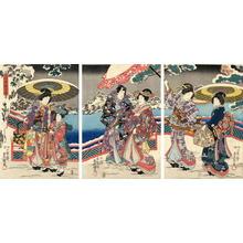歌川国貞: Snow Viewing Party - Japanese Art Open Database
