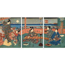 Utagawa Kunisada: The Musical Interlude at night - Japanese Art Open Database