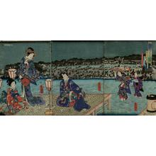 歌川国貞: Unknown, night scene - Japanese Art Open Database