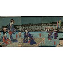 歌川国貞: Unknown, night scene - Japanese Art Open Database