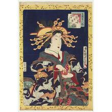 Utagawa Kunisada: Courtesan Koine of the Inamoto House, New Yoshiwara — 新吉原角町稲本楼 小稲 - Japanese Art Open Database