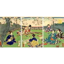 歌川国貞: Prince Genji and Lady Musicians - Japanese Art Open Database