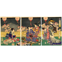 Utagawa Kuniteru: at Cherry Blossom Time - Japanese Art Open Database