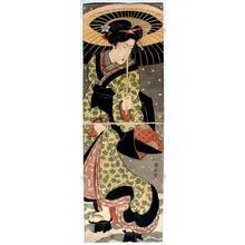 歌川国安: Bijin in the Snow - Japanese Art Open Database