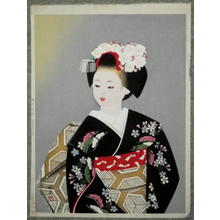 Masao Ebina: Girl in Kimono - Japanese Art Open Database