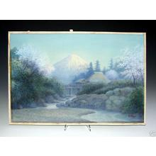 Matsu M: Farmlet by Mt Fuji in Spring - Japanese Art Open Database