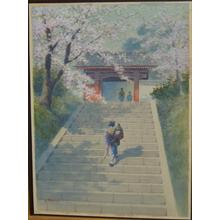 Matsu M: Stairs to Temple Gate - Japanese Art Open Database