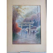Matsu M: Village Torii in Rain - Japanese Art Open Database