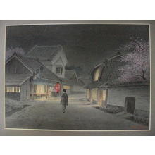 Matsu M: Woman road night - Japanese Art Open Database