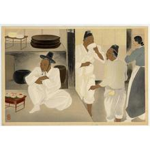 Matsuda Reiko: Korean customs, tea house - Japanese Art Open Database