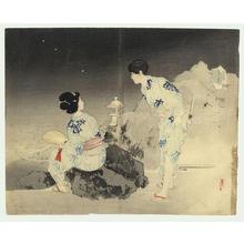 Mishima Shoso: Bijin and Fireflies - Japanese Art Open Database