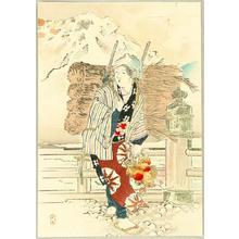 Mishima Shoso: On a Bridge - Japanese Art Open Database