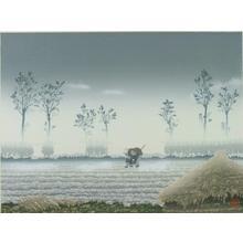 Miyamoto Shufu: Morning Fog- LE - Japanese Art Open Database