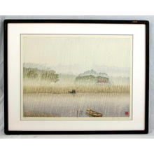 Miyamoto Shufu: Rain - Japanese Art Open Database