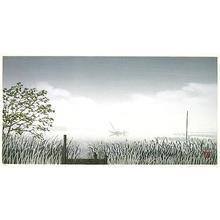 Miyamoto Shufu: Scene with a Watergate - Japanese Art Open Database