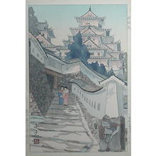 Mori Masamoto: Himeji Castle — 姫路城 - Japanese Art Open Database