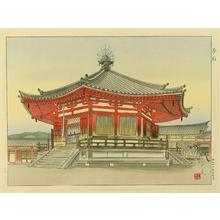 Mori Masamoto: Pavilion of Dream - Yumedono Temple - Japanese Art Open Database