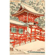 Mori Masamoto: Red Temple In Winter - Japanese Art Open Database
