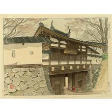 Mori Masamoto: The Third Gate of the Ruins of Kumoro Castle - Japanese Art Open Database