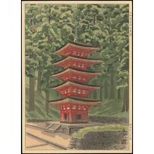 Mori Masamoto: Yamato Murouji Five-Storey Pagoda - Japanese Art Open Database