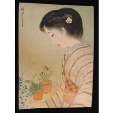 Morita Hisashi: Bijin Viewing Flowers - Japanese Art Open Database