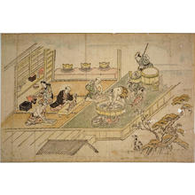 菱川師宣: Scene in the Yoshiwara Pleasure Quarter — よしはらの躰 - Japanese Art Open Database