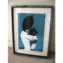 Nakao Yoshitaka: The Black Cat - Japanese Art Open Database