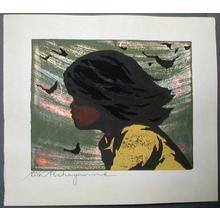 Nakayama Tadashi: Unknown, child in wind - Japanese Art Open Database