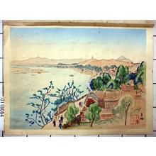 Nakazawa Hiromitsu: The Shores of Kitsurin Shoka Inlet — 吉林松花江岸-きつりんしょうかこう - Japanese Art Open Database