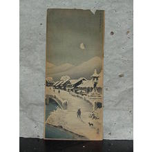 Narazaki Eisho: Tokaido Kusatsu Night Moon - Japanese Art Open Database