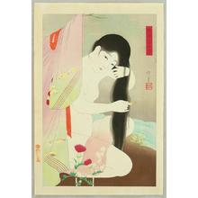 Narita Morikane: Combing the Hair - Japanese Art Open Database